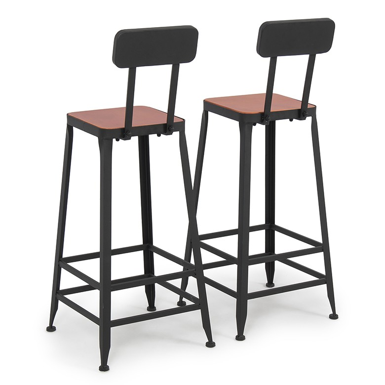 vintage industrial bar stools with backs metal wayfair wood counter height seat set