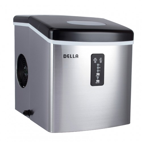 DELLA Stainless Steel Ice Maker 35lb Per Day Portable Countertop Freestanding Icemaker