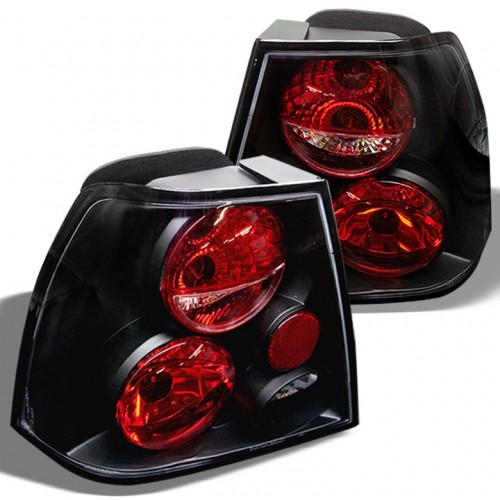 SPYDER 1999-2005 Volkswagen Jetta 4-Door Sedan Euro Tail Lights - Black